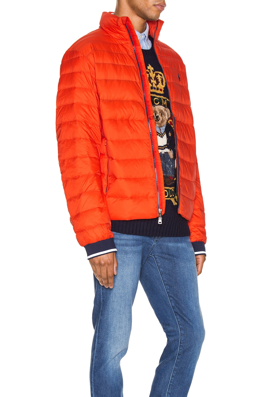 Image 3 of Polo Ralph Lauren Lightweight Packable Down Jacket in Bittersweeet