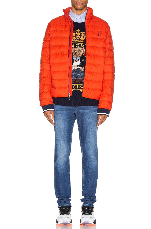 Image 5 of Polo Ralph Lauren Lightweight Packable Down Jacket in Bittersweeet