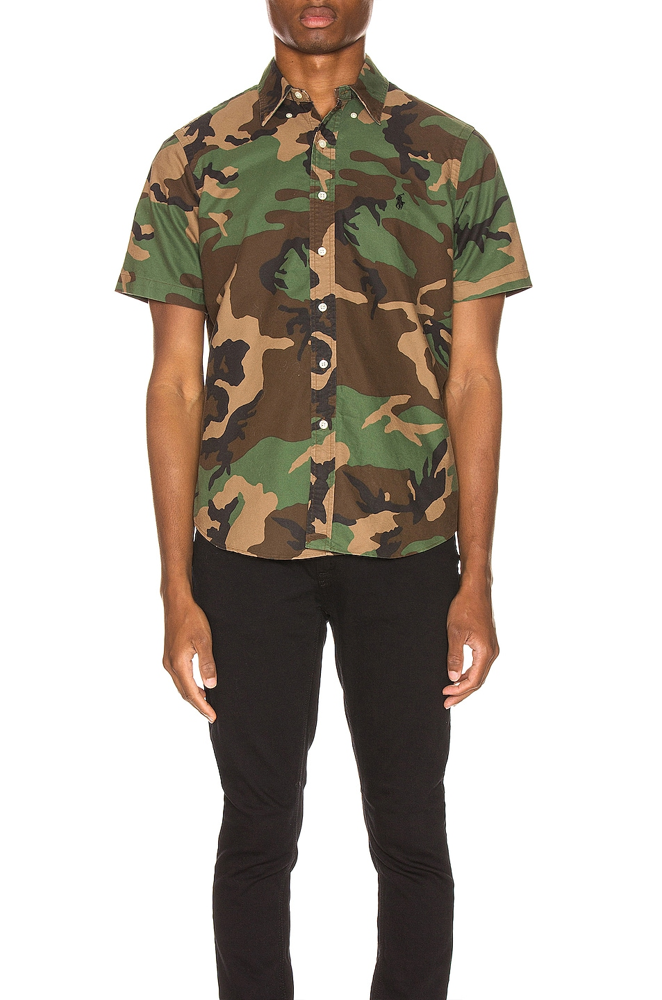 Image 2 of Polo Ralph Lauren Printed Oxford Shirt in Camo Print