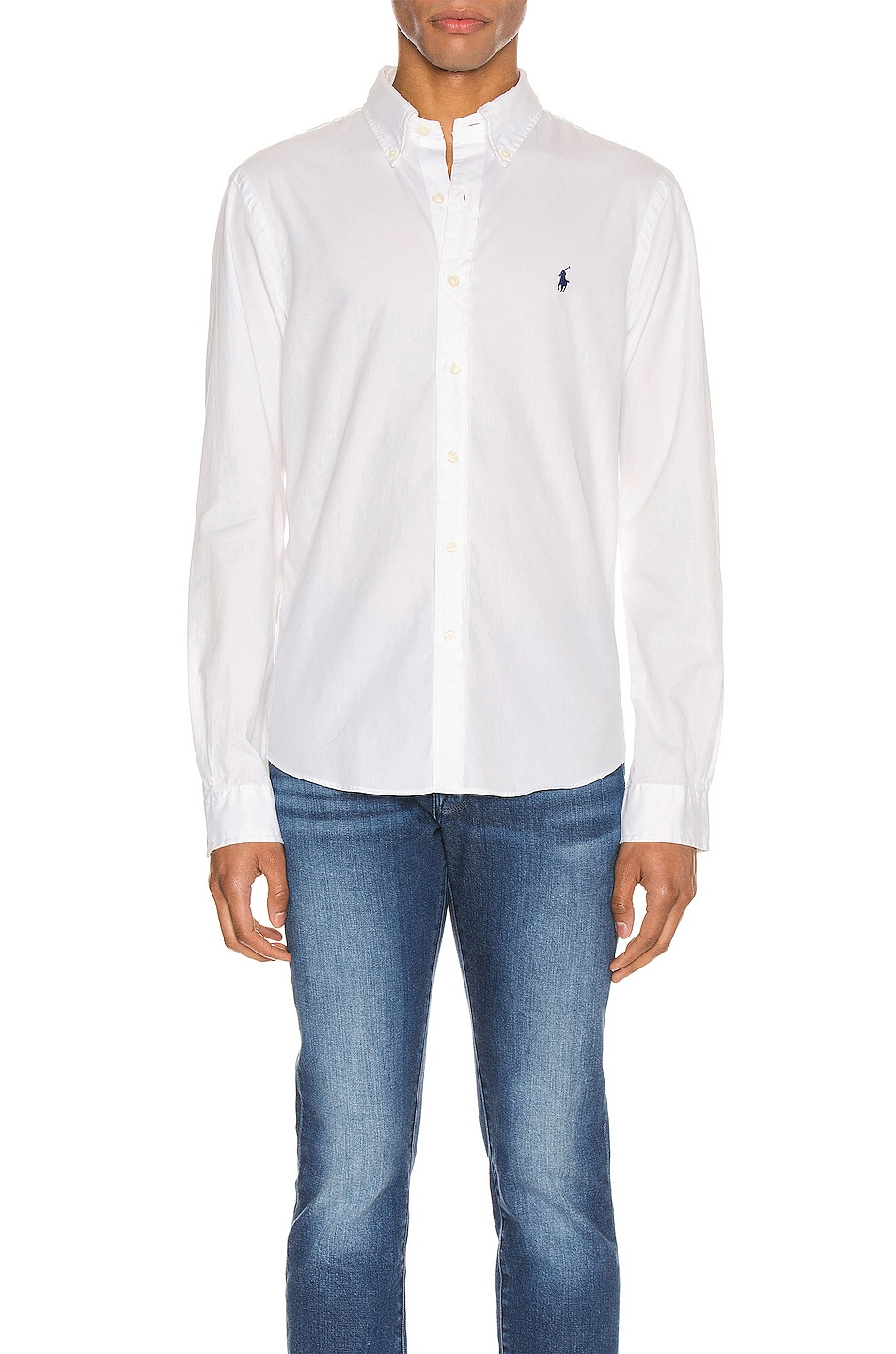 Image 1 of Polo Ralph Lauren GD Chino Long Sleeve Button Up Shirt in White
