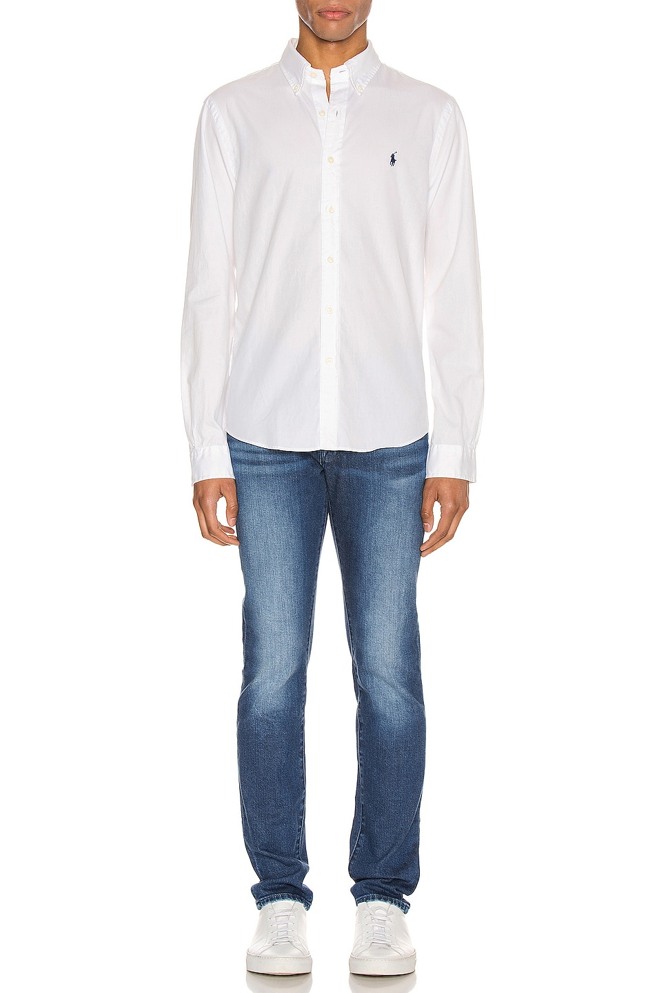 Image 4 of Polo Ralph Lauren GD Chino Long Sleeve Button Up Shirt in White
