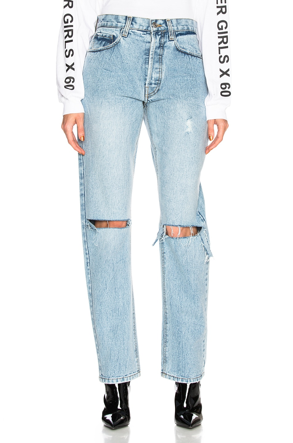 PALMER GIRLS X MISS SIXTY MOM JEANS IN BLUE