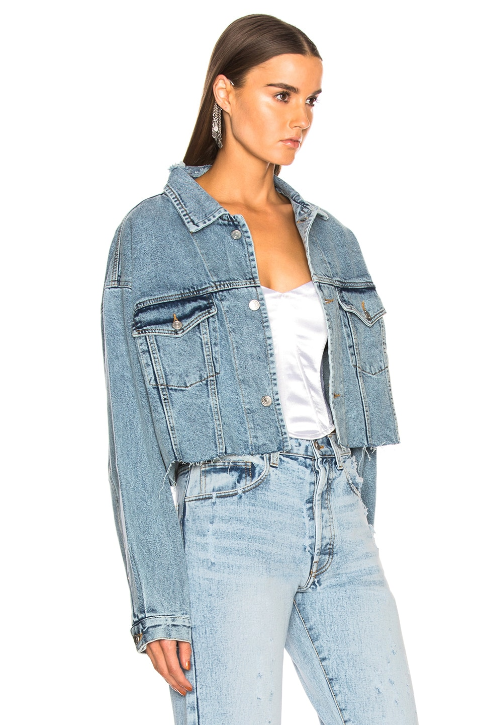 2eee597ee Image 2 of Palmer Girls x Miss Sixty Vintage Cropped Denim Jacket in Light  Wash