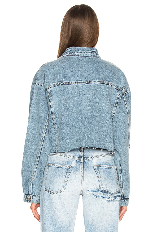Image 3 of Palmer Girls x Miss Sixty Vintage Cropped Denim Jacket in Light Wash