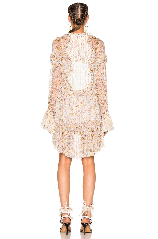 Image 4 of Philosophy di Lorenzo Serafini Long Sleeve Mini Dress in Fantasy  Print White 8e869c947