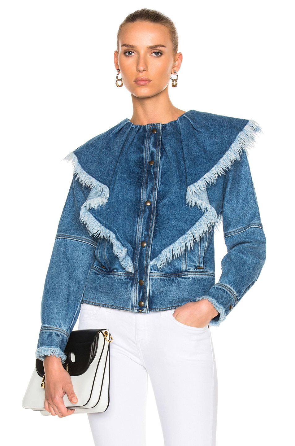 Philosophy di Lorenzo Serafini Frayed Button Down Top in Blue
