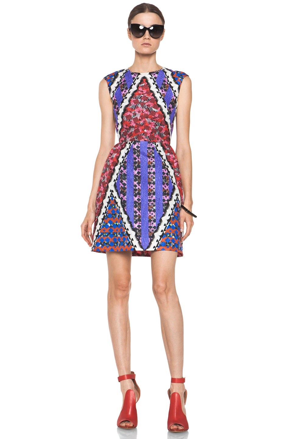 Image 1 of Peter Pilotto Tri Dress in Red Multi