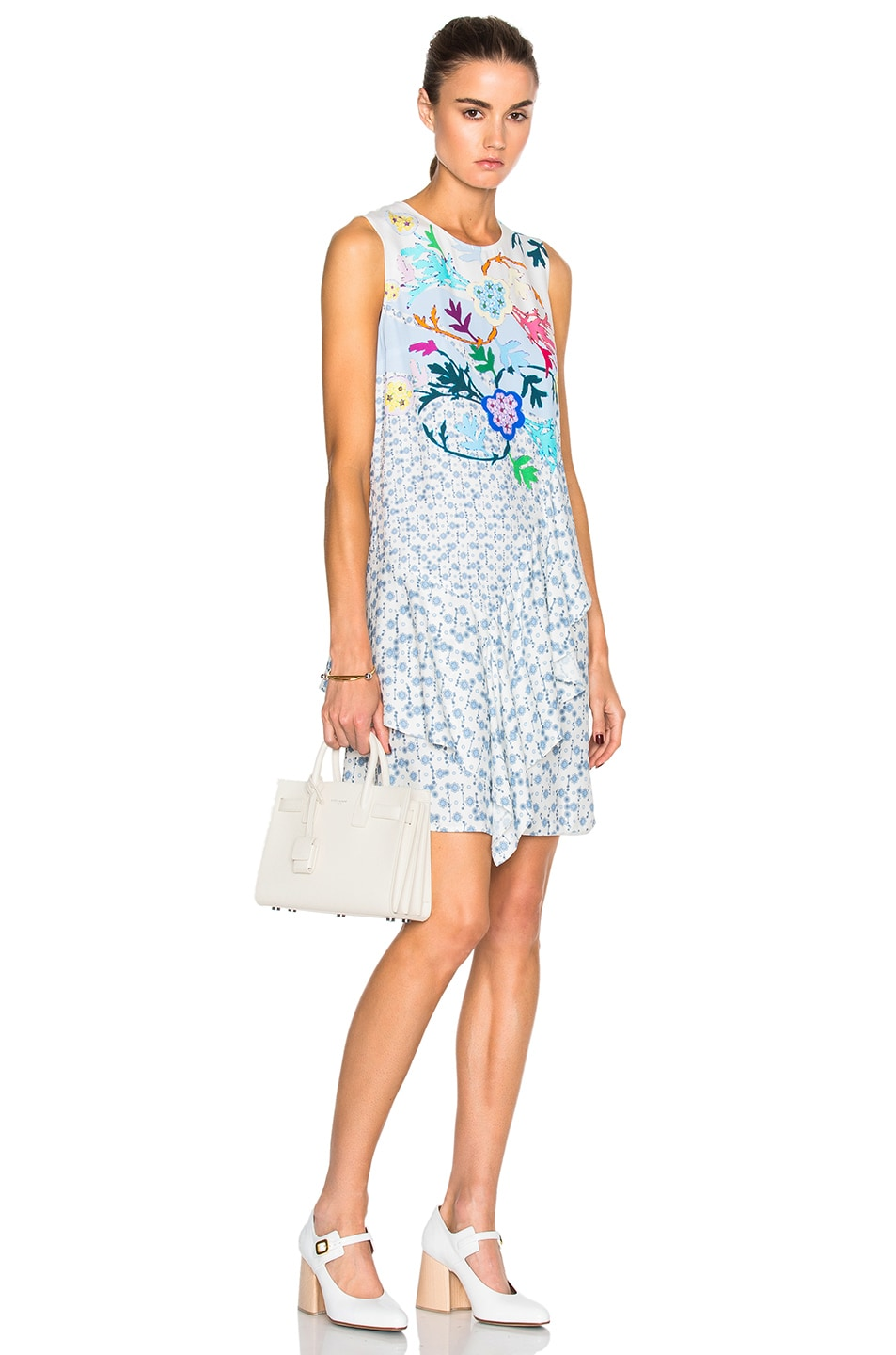 Image 1 of Peter Pilotto Viscose Crepe Asymmetric Dress in White