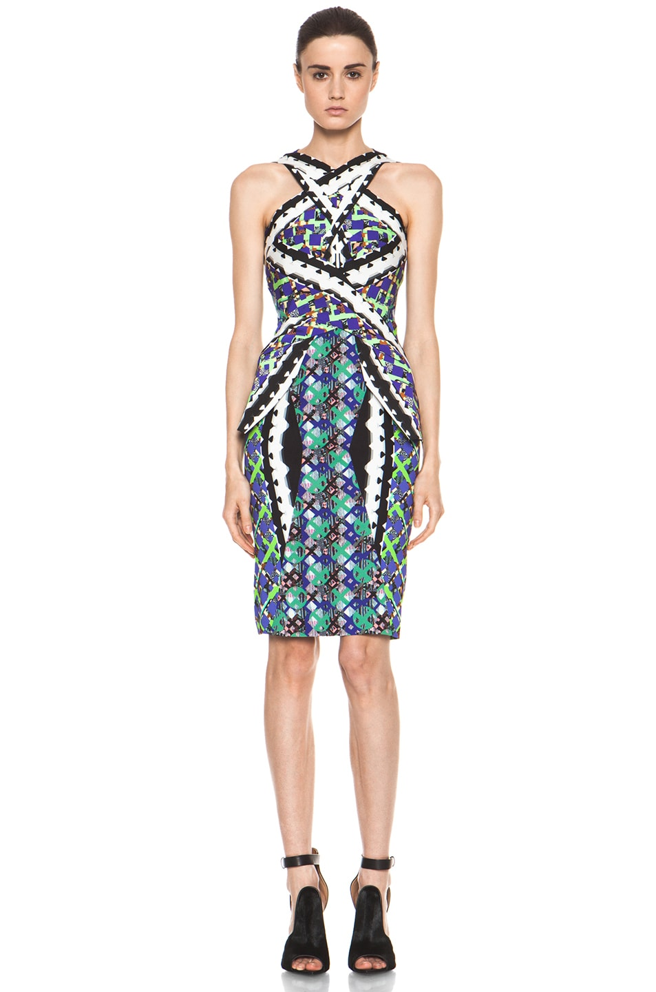 Image 1 of Peter Pilotto LF Dress in Green Multi