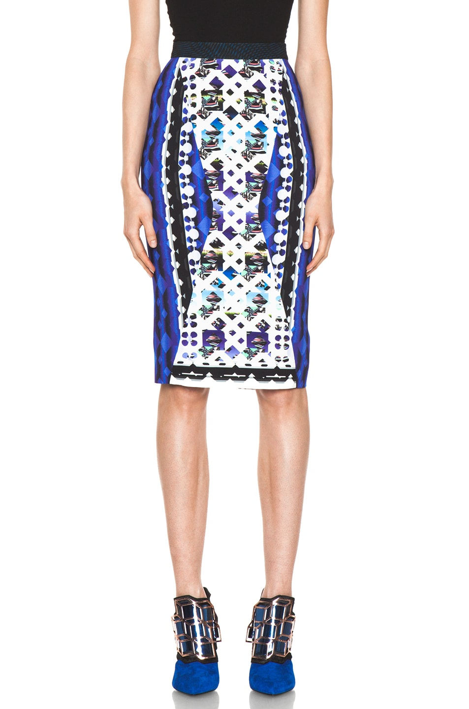 Image 1 of Peter Pilotto Skirt in Lace Blue