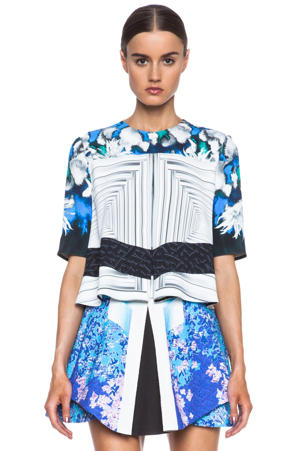 Image 1 of Peter Pilotto Ines Viscose Top in Dahlia Blue
