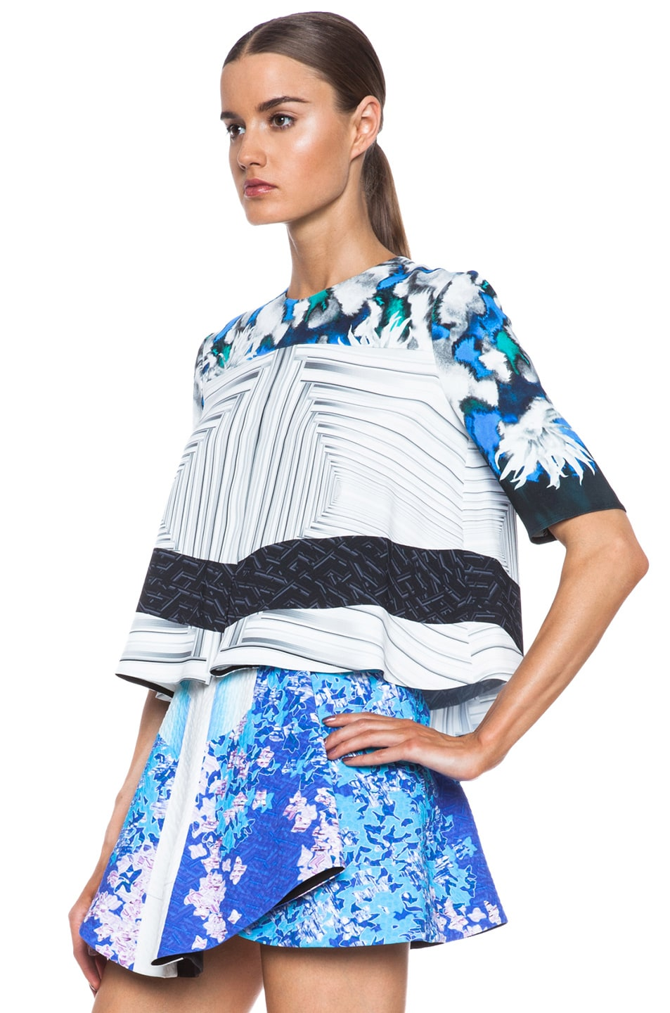 Image 2 of Peter Pilotto Ines Viscose Top in Dahlia Blue