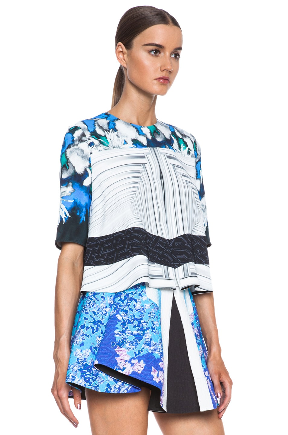 Image 3 of Peter Pilotto Ines Viscose Top in Dahlia Blue