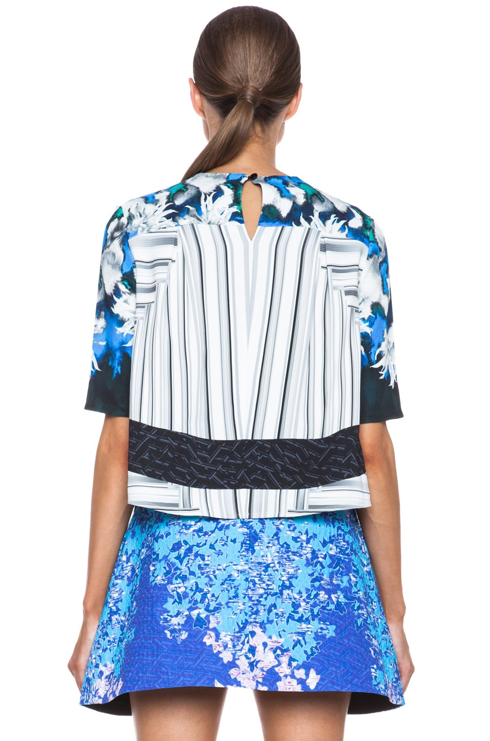 Image 4 of Peter Pilotto Ines Viscose Top in Dahlia Blue