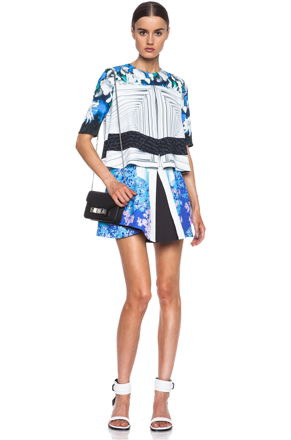 Image 5 of Peter Pilotto Ines Viscose Top in Dahlia Blue