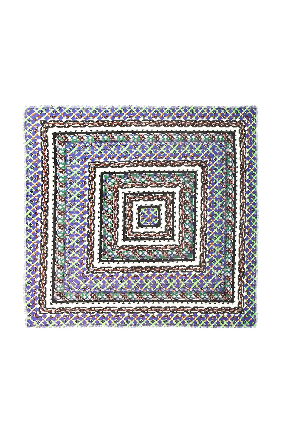Image 1 of Peter Pilotto Cashmere Scarf in Green Multi