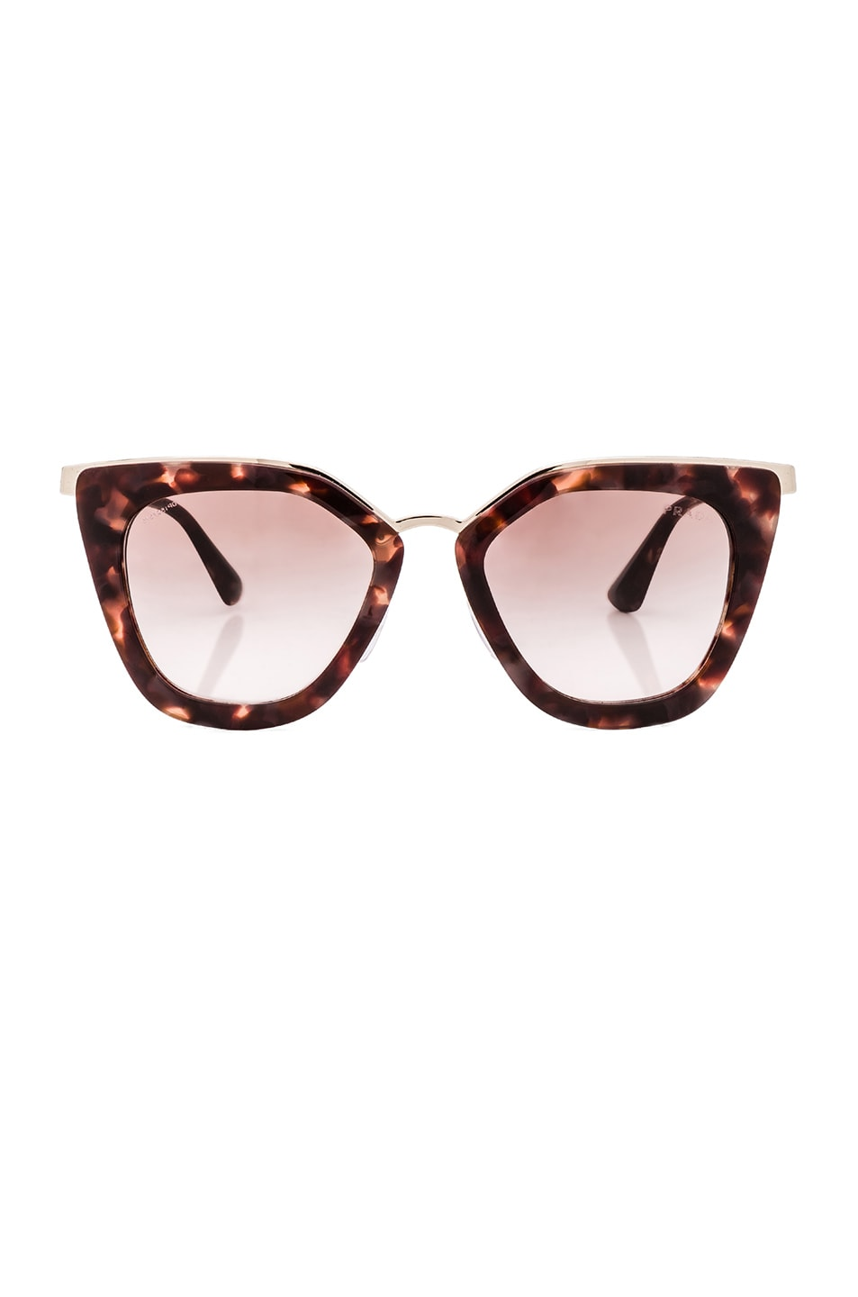 Image 1 of Prada Square Sunglasses in Spotted Brown Pink