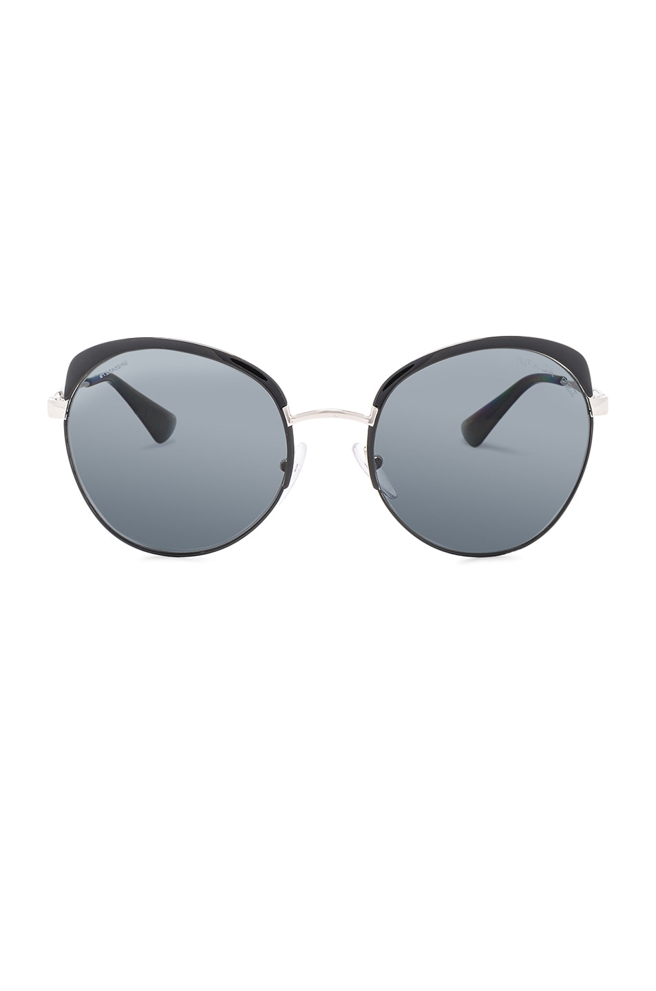 Image 1 of Prada Top Rimmed Polarized Sunglasses in Black