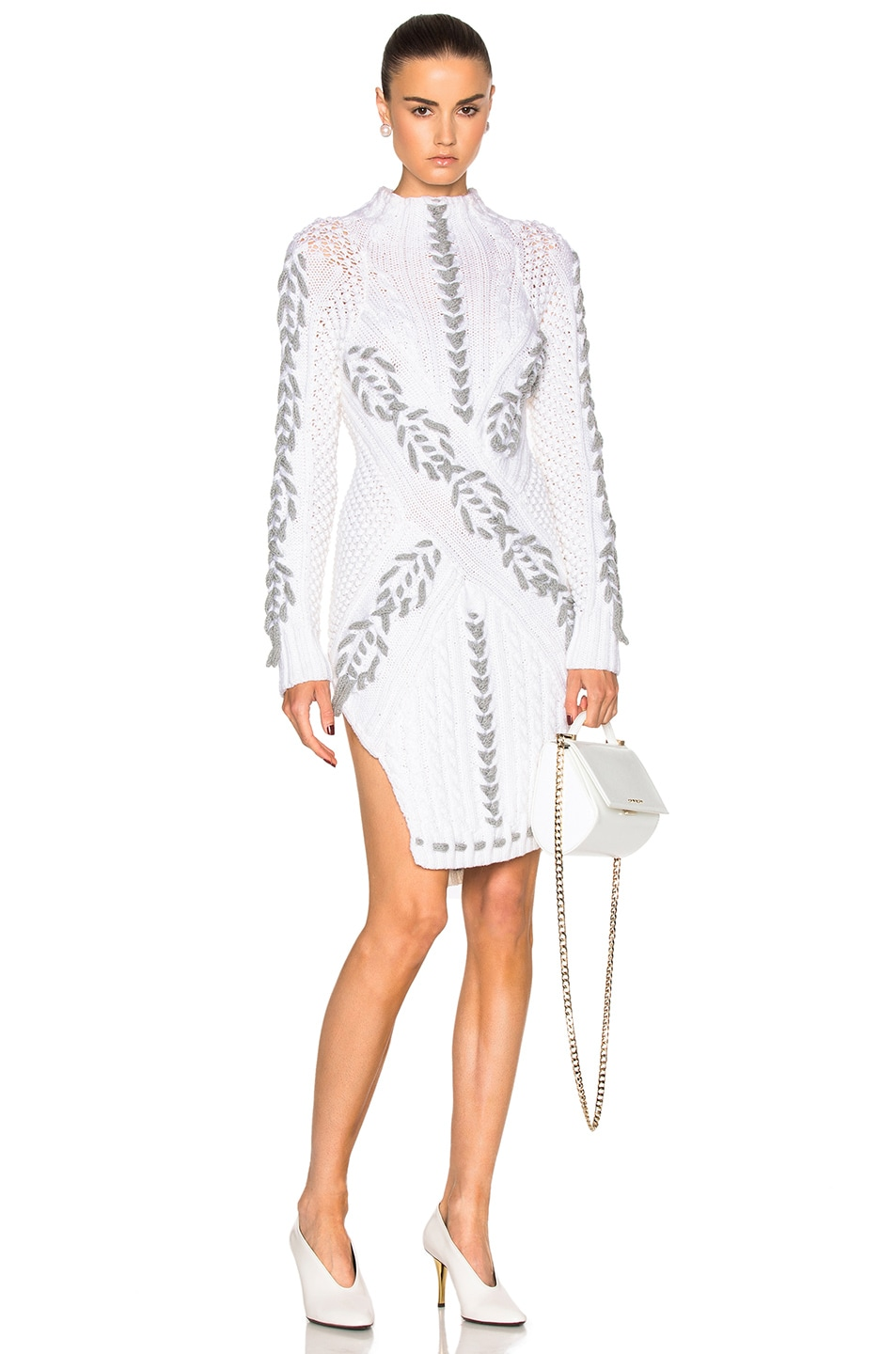 Image 1 of Prabal Gurung Cable Knit Turtleneck Sweater in Snow