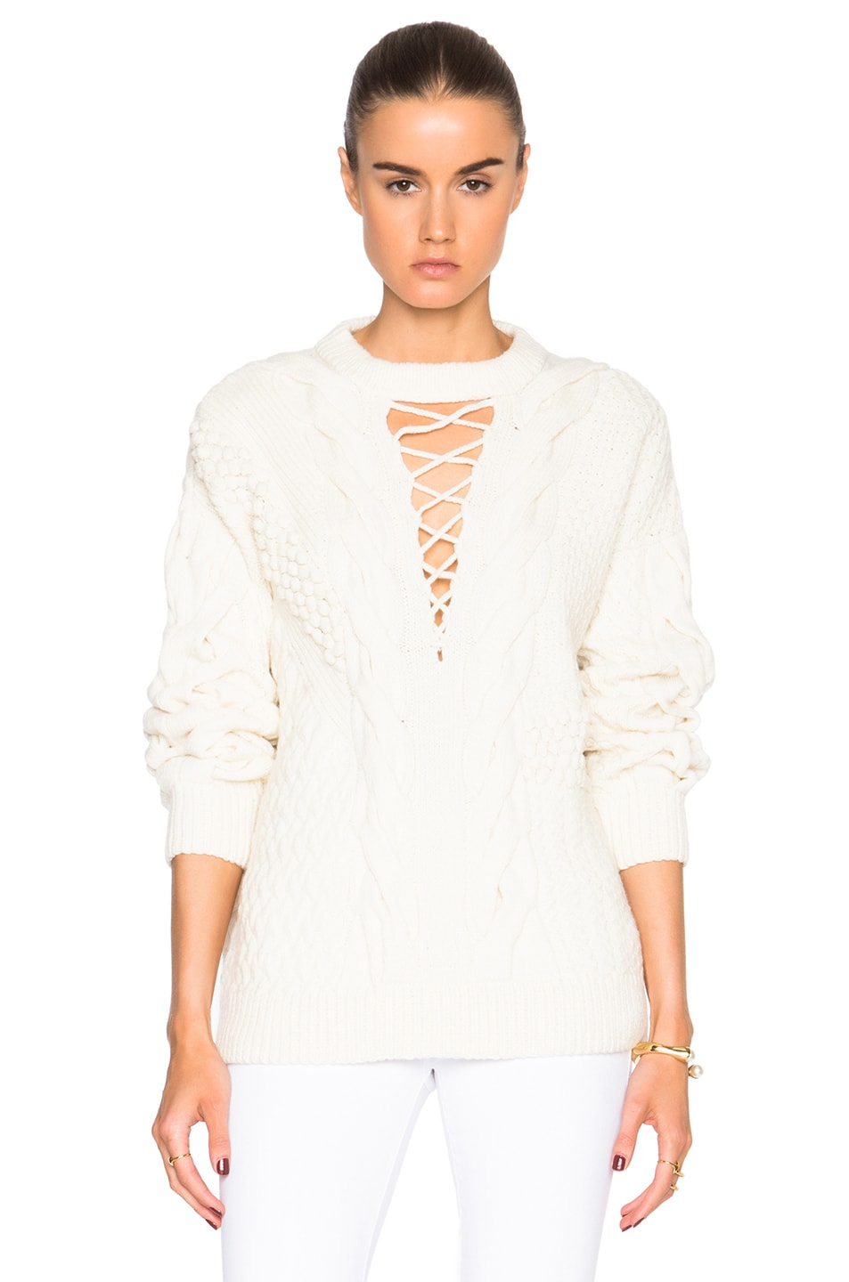 Image 1 of Prabal Gurung Wool Cashmere Sweater in Magnolia