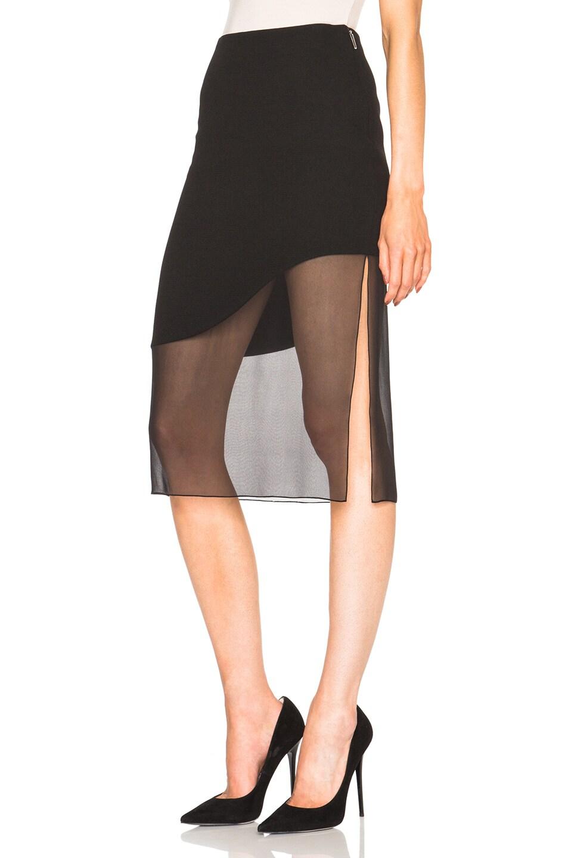 Image 2 of Prabal Gurung Crepe Skirt in Black
