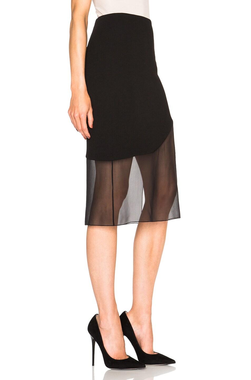 Image 3 of Prabal Gurung Crepe Skirt in Black