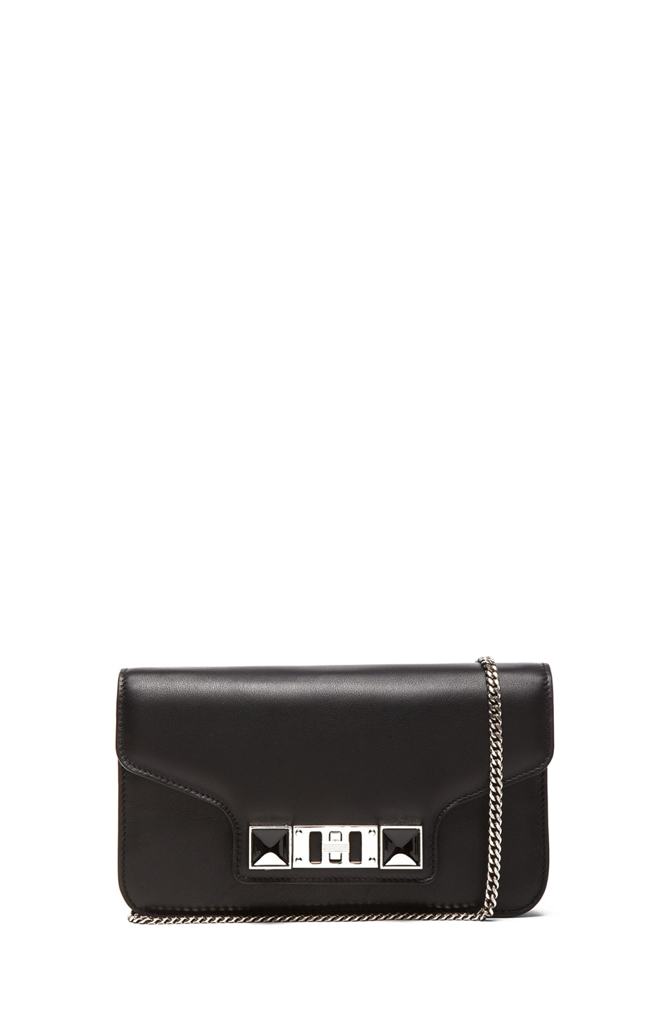 Image 1 of Proenza Schouler PS11 Smooth Calf Leather Chain Wallet in Black