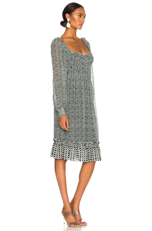Image 2 of Proenza Schouler Print Dress in Bluestone & Blk Dot