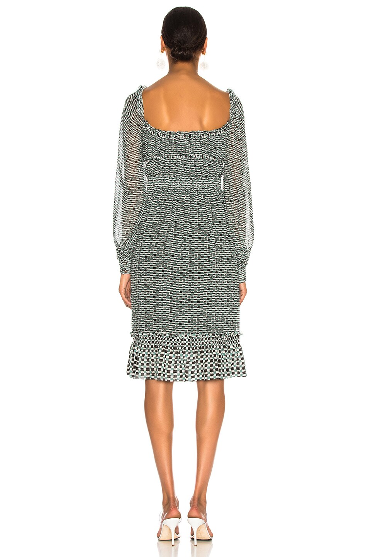 Image 3 of Proenza Schouler Print Dress in Bluestone & Blk Dot