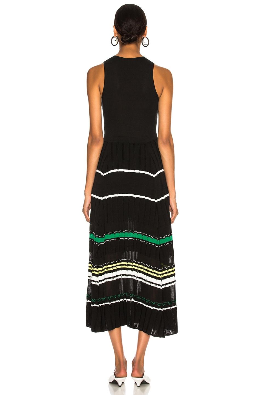 Image 3 of Proenza Schouler Stripe Dress in Black & Green