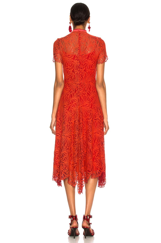 Image 3 of Proenza Schouler Mock Turtleneck Dress in Tangerine