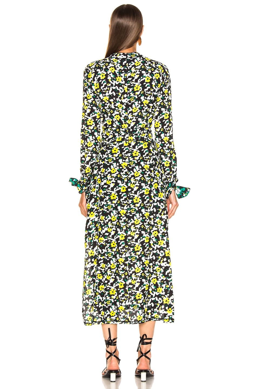 Image 3 of Proenza Schouler Long Sleeve Printed Dress in White Wildflower