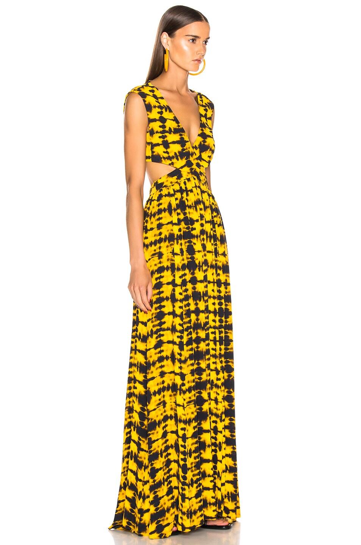 Image 2 of Proenza Schouler Tie Dye Maxi Dress in Yellow & Black