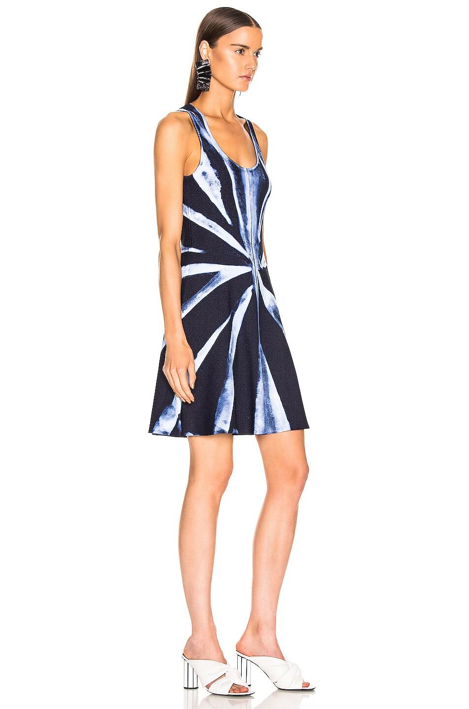Image 2 of Proenza Schouler Tie Dye Knit Dress in Dark Indigo & White