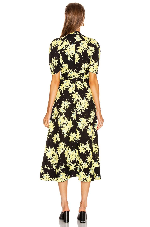 Image 3 of Proenza Schouler Splatter Floral Tie Dress in Yellow & Black