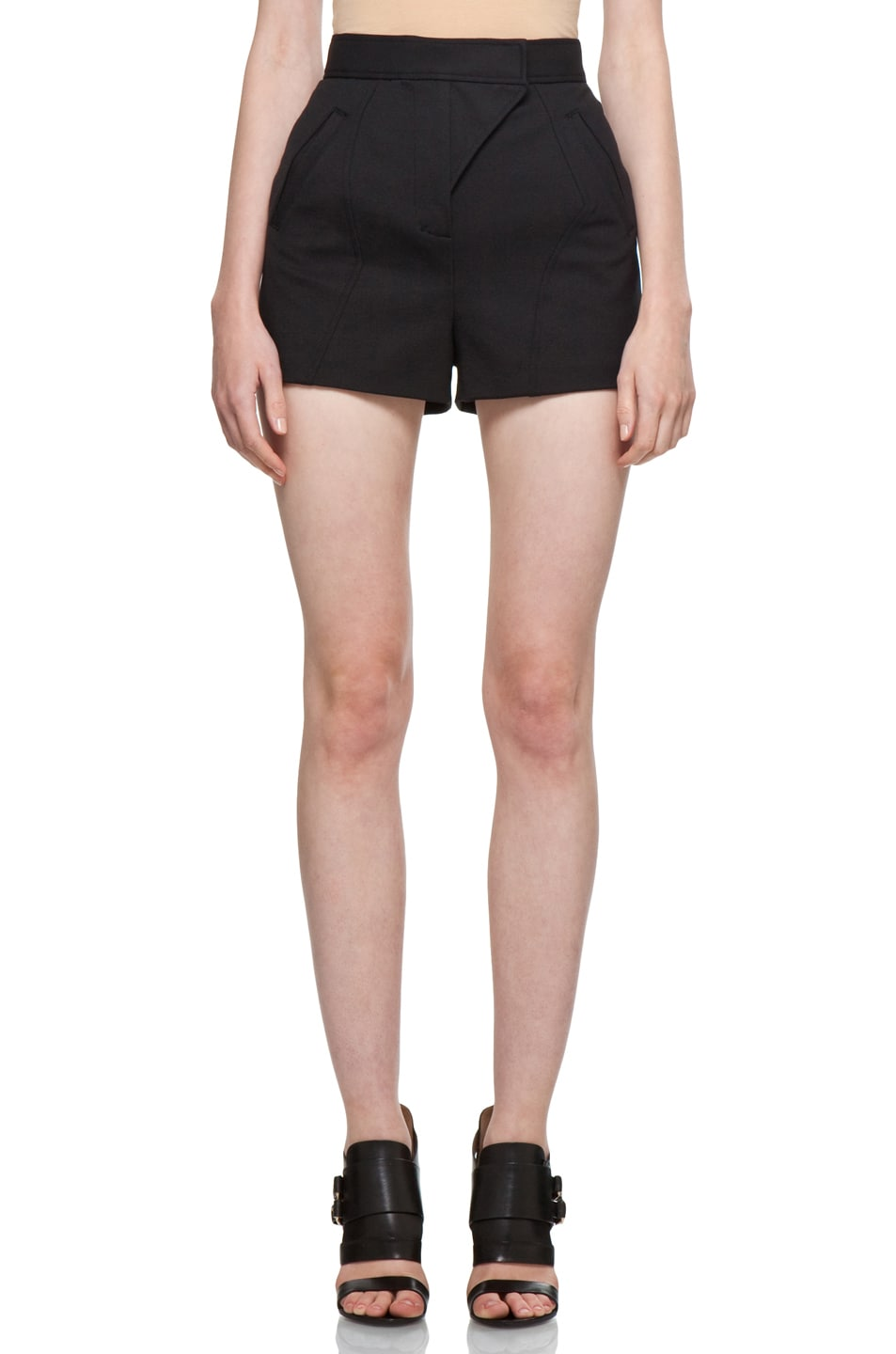 Image 1 of Proenza Schouler Hi Wasted Shorts in Black