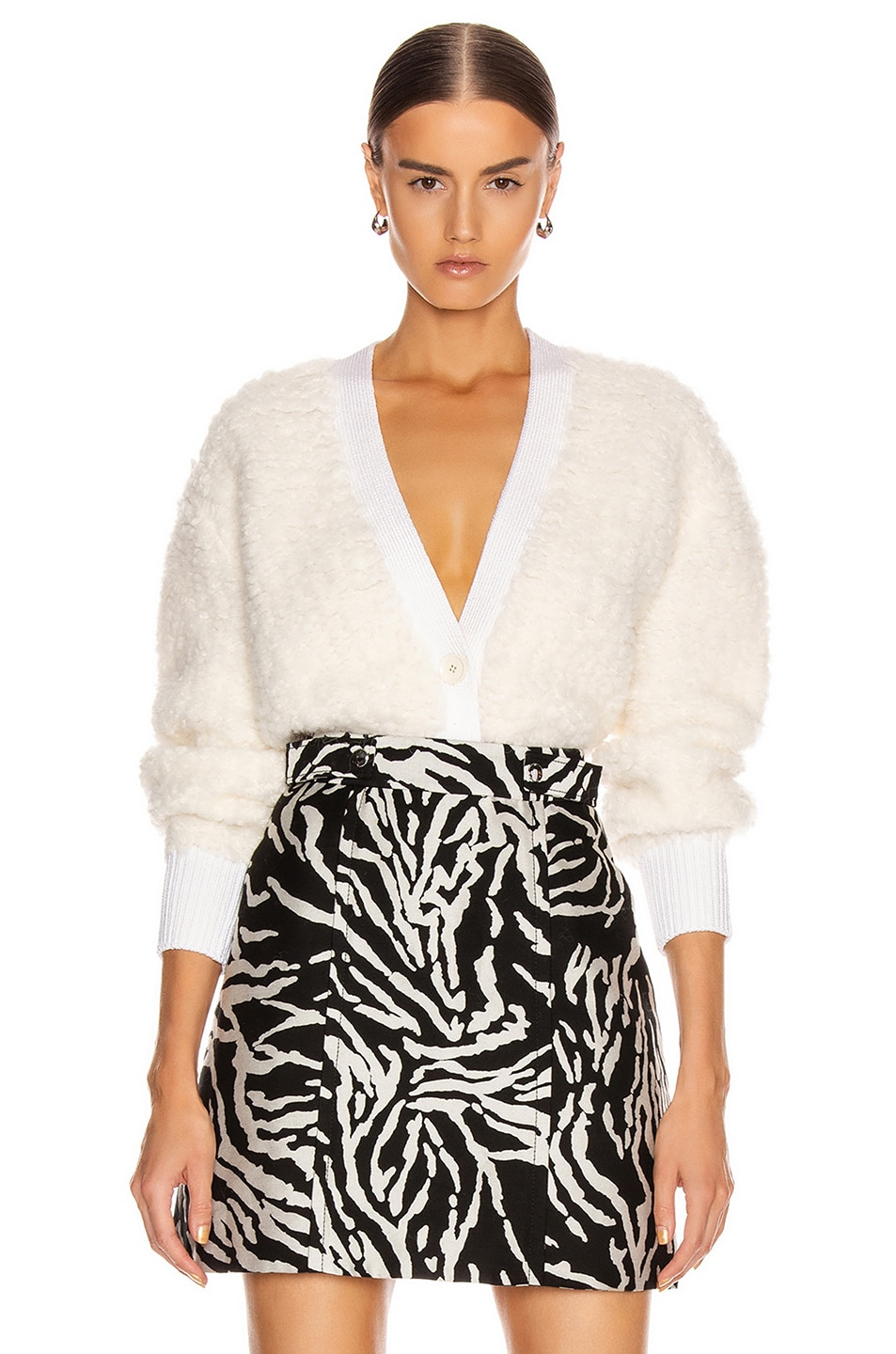 Image 1 of Proenza Schouler Cropped Cardigan in Vanilla