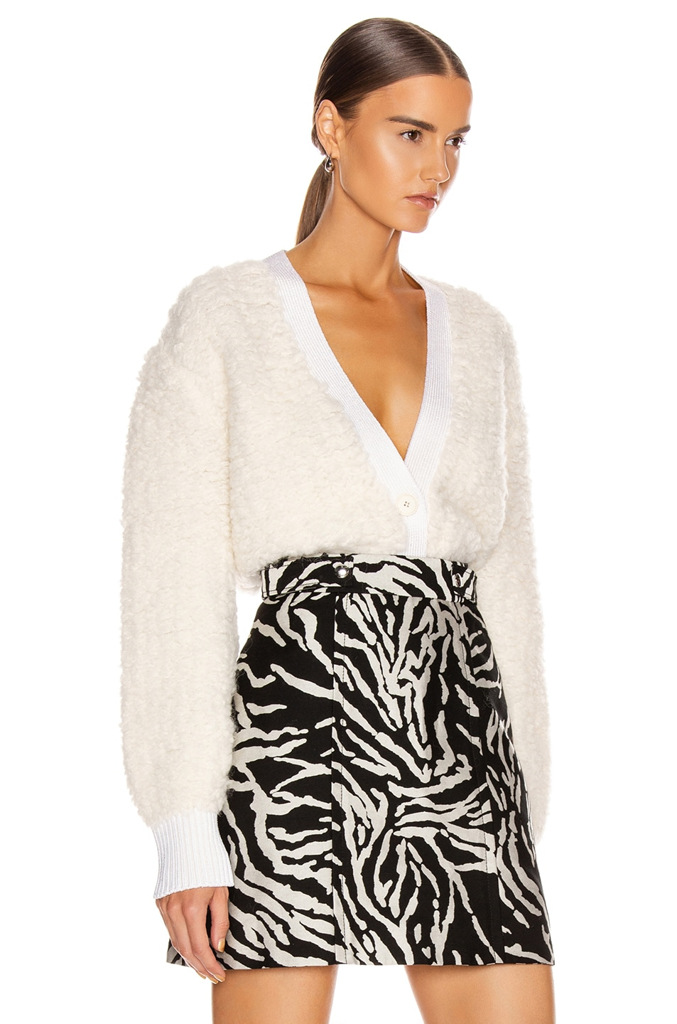 Image 3 of Proenza Schouler Cropped Cardigan in Vanilla