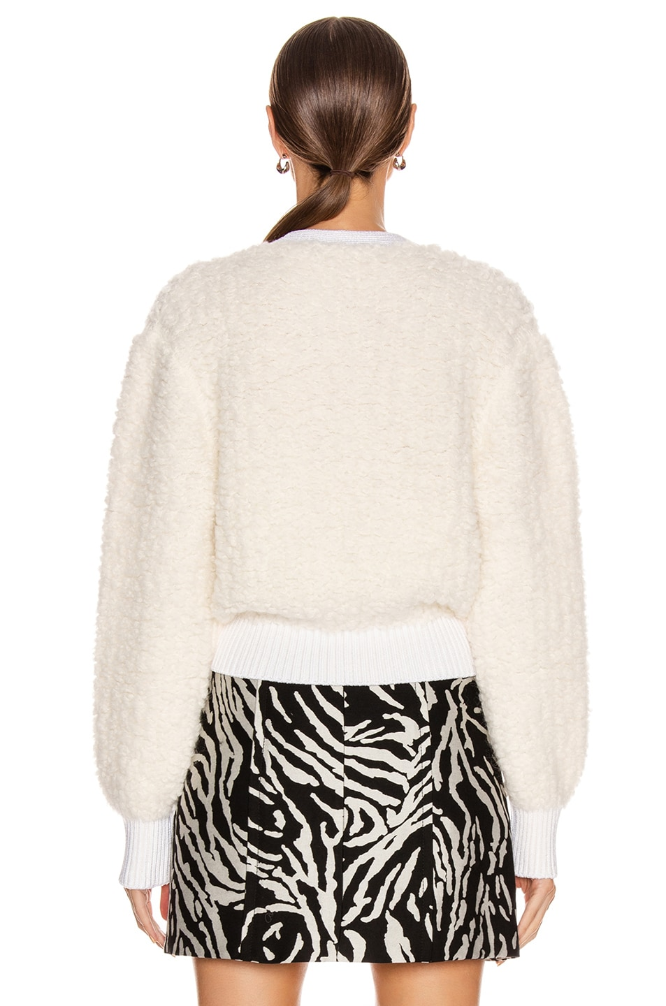 Image 4 of Proenza Schouler Cropped Cardigan in Vanilla