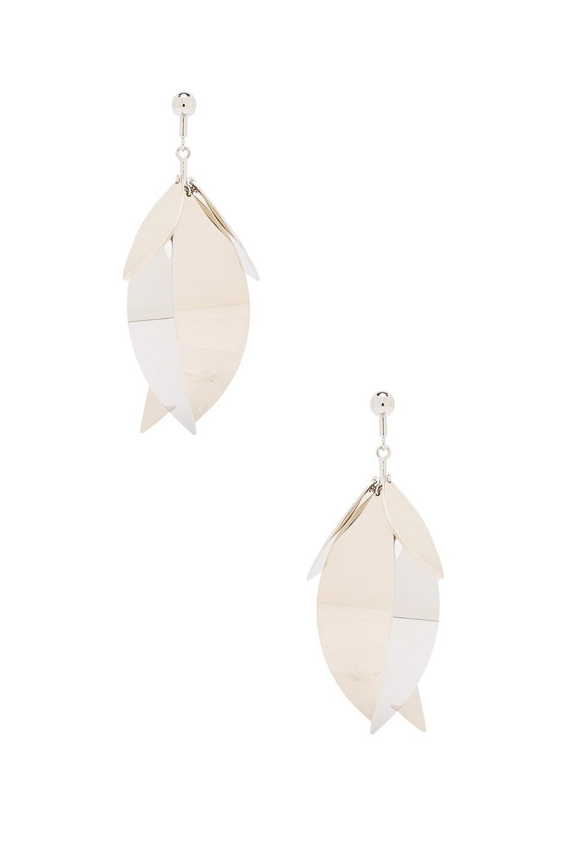 Image 1 of Proenza Schouler Full Leave Earrings in Gold & Silver