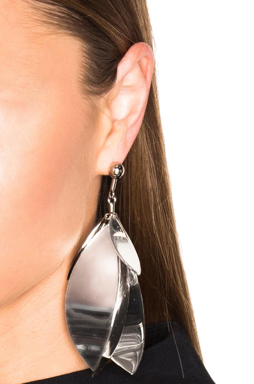 Image 2 of Proenza Schouler Full Leave Earrings in Gold & Silver