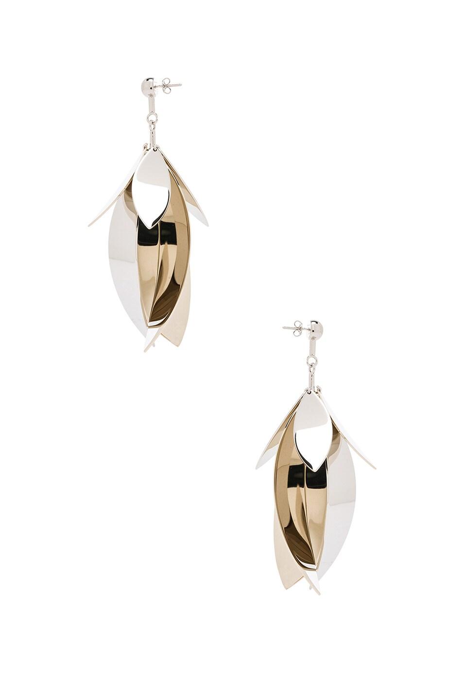 Image 3 of Proenza Schouler Full Leave Earrings in Gold & Silver