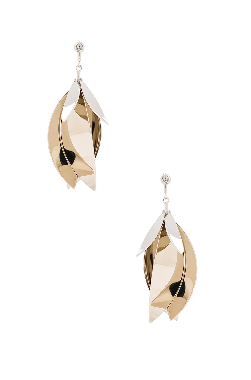 Image 4 of Proenza Schouler Full Leave Earrings in Gold & Silver