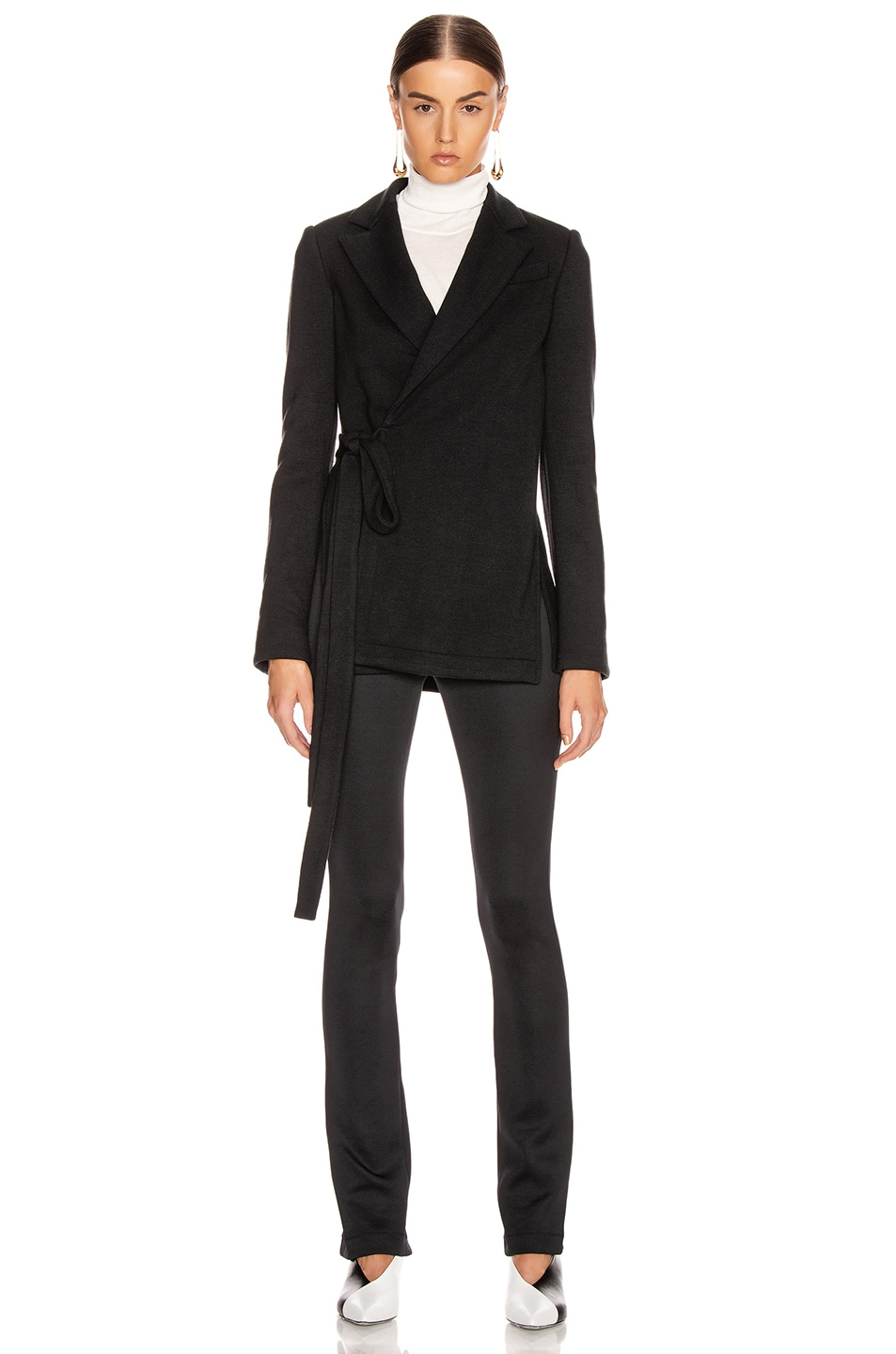 Image 1 of Proenza Schouler Wrap Jacket in Black