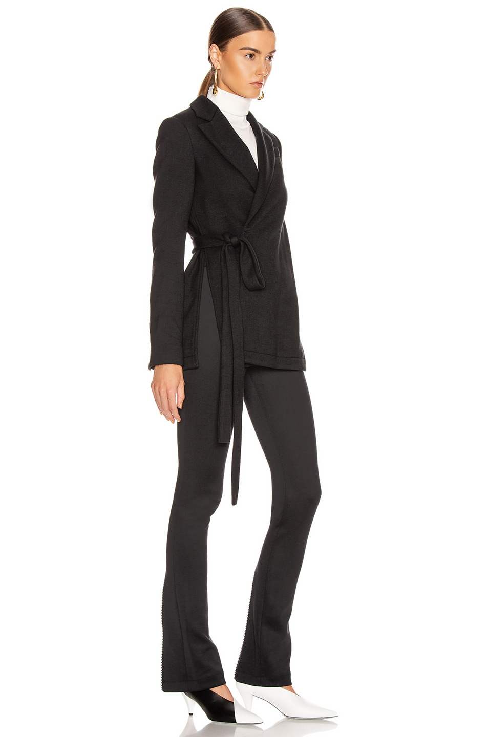 Image 3 of Proenza Schouler Wrap Jacket in Black