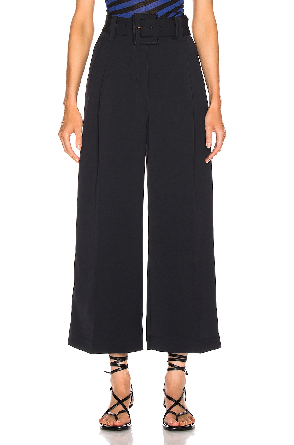 Image 1 of Proenza Schouler Belted Pant in Black