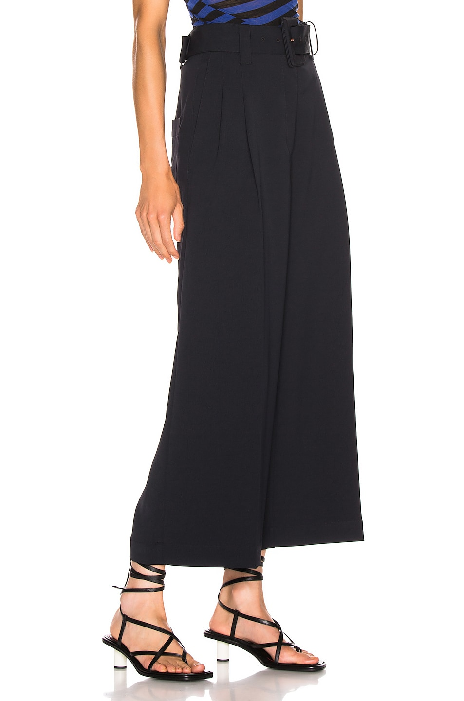 Image 2 of Proenza Schouler Belted Pant in Black