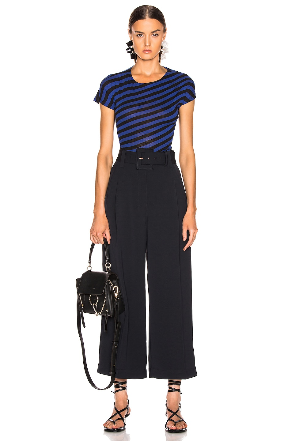 Image 4 of Proenza Schouler Belted Pant in Black