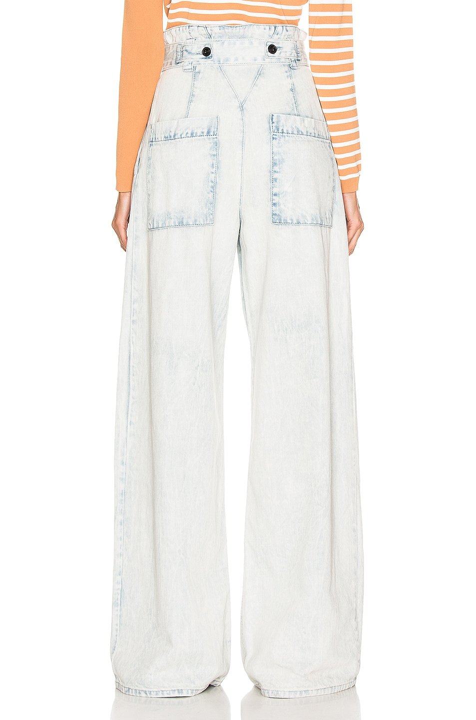 Image 3 of Proenza Schouler Belted Pant in Bleached Acid
