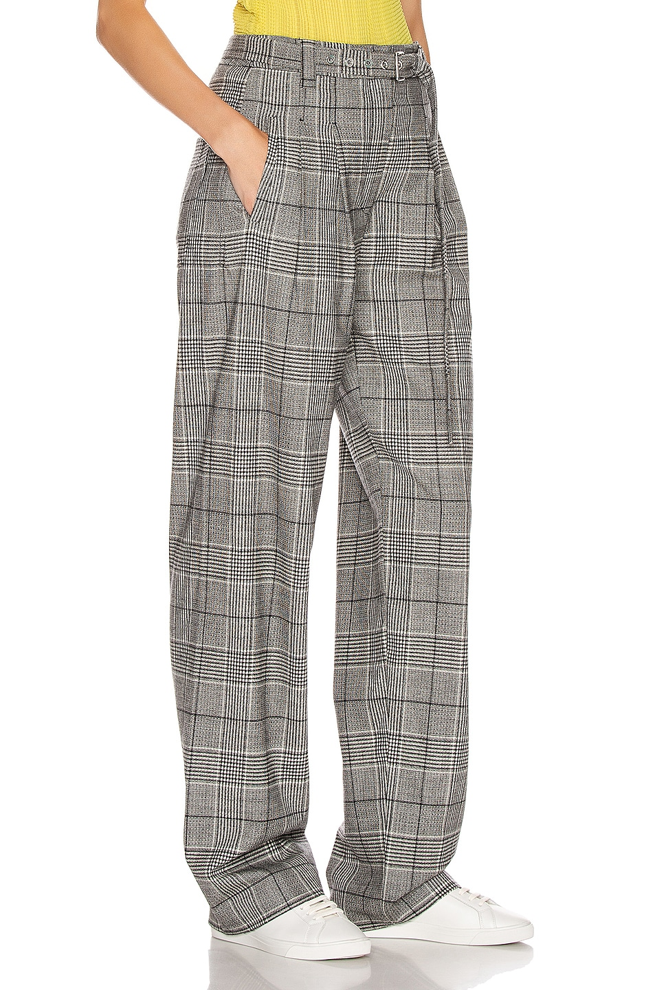 Image 2 of Proenza Schouler Plaid Exaggerated Plaid Pant in Black & White